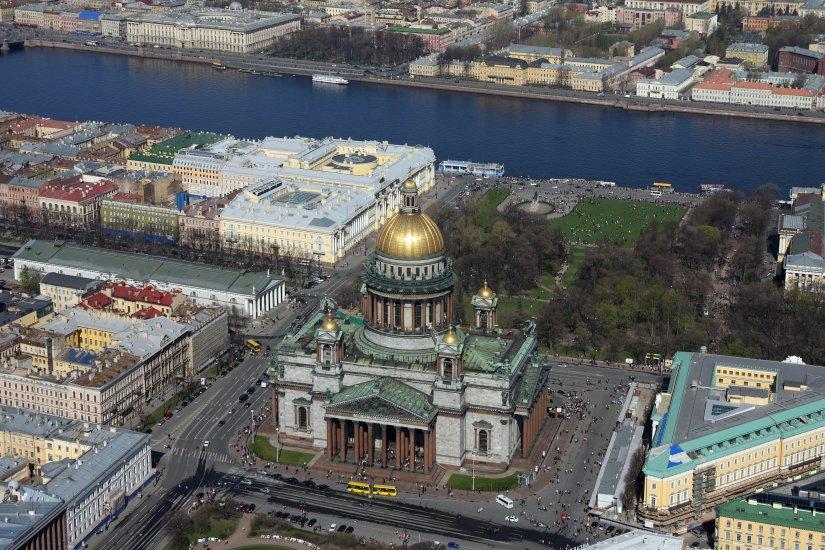 Санкт-Петербург с вертолёта