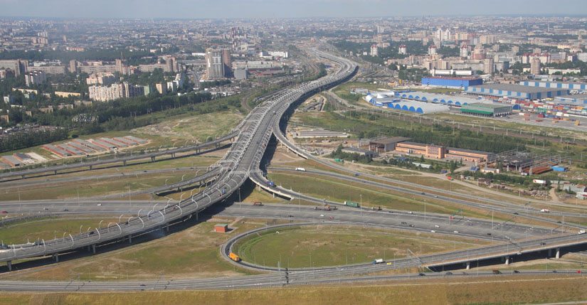Фотографии дорог Петербурга с